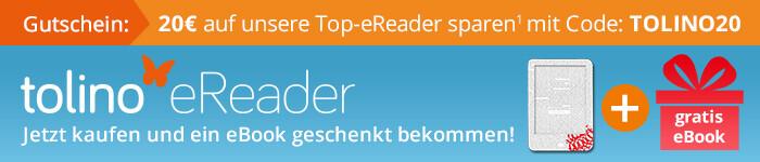 Jetzt tolino eReader kaufen und ein gratis eBook erhalten