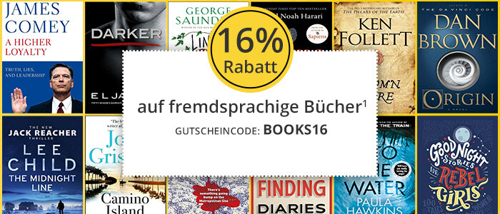 Sichern Sie sich 16% Rabatt auf fremdsprachige Bücher