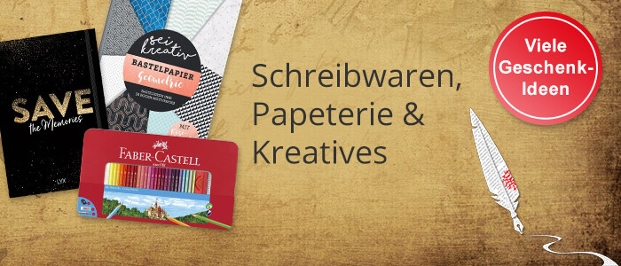 Schreibwaren, Papeterie & Kreatives