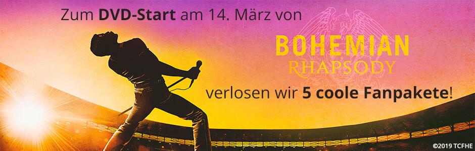 Gewinnen Sie ein cooles Bohemian Rhapsody - Fanpaket!