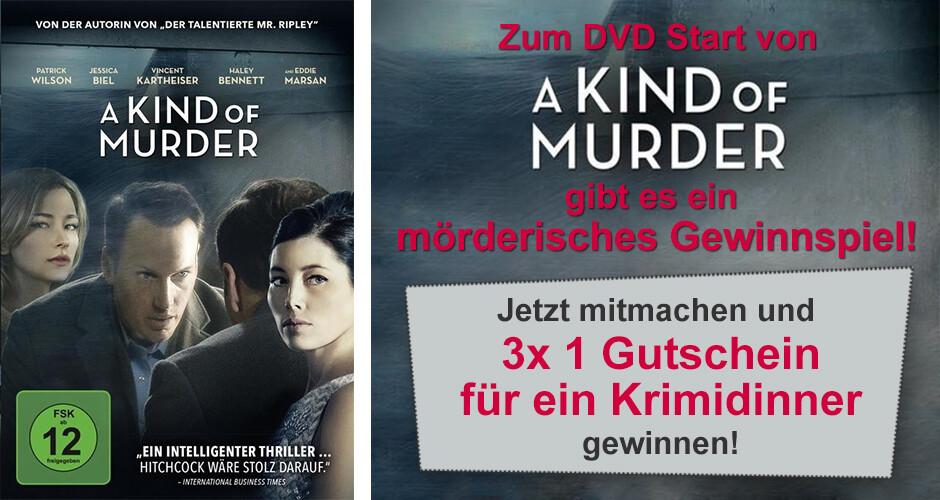 Mörderisches Gewinnspiel zum DVD Start von A Kind of Murder