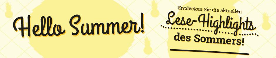 Hello Sommer - die schönsten Lesetipps für den Sommer