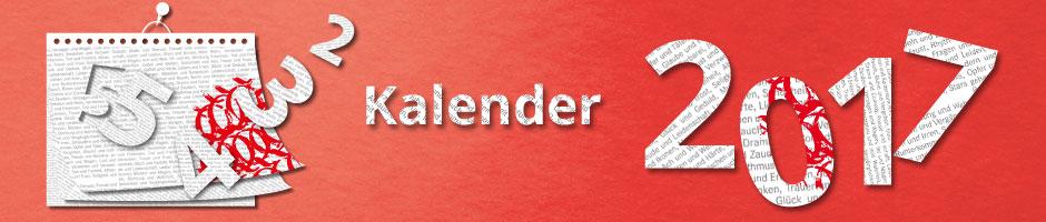 Schöne Kalender für 2017 bei Hugendubel