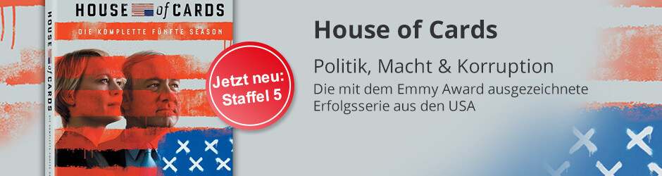 Serienhighlight: House of Cards - Jetzt Staffel 5 sichern!