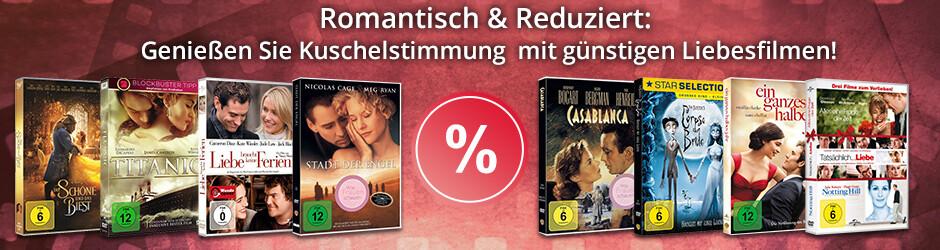 Romantische Kuschelfilme auf DVD  - jetzt heruntergesetzt!