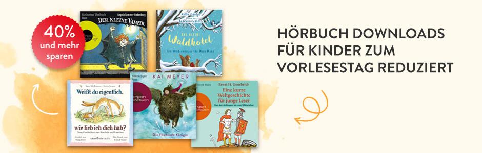 Hörbuch Downloads für Kinder zum Vorlesetag stark reduziert bei Hugendubel