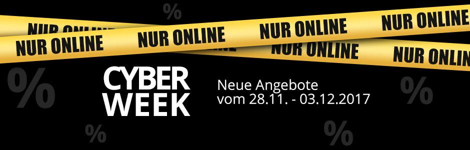 Cyber Week 2017 - entdecken Sie viele Rabatte