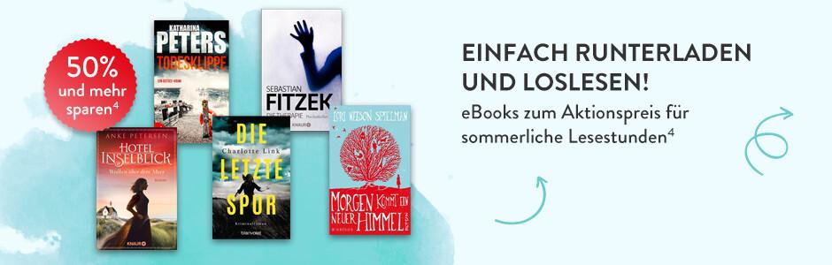 Einfach runterladen und loslesen: eBooks zum Aktionspreis für sommerliche bei Hugendubel