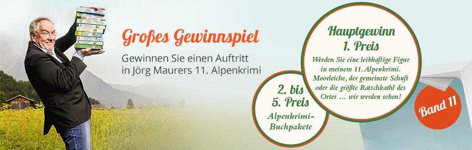 Gewinnen Sie eine Rolle in Jörg Maurers 11. Alpenkrimi
