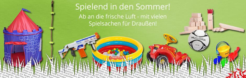 Spielend in den Sommer - mit tollen Spielwaren für Draußen!