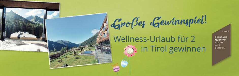 Gewinnen Sie einen Wellness-Urlaub für 2 in Tirl