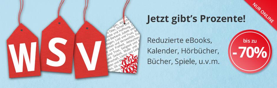 WSV 2017 - Der Winterschlussverkauf bei Hugendubel.de mit vielen reduzierten eBooks, Filmen, Spielwaren und Büchern!