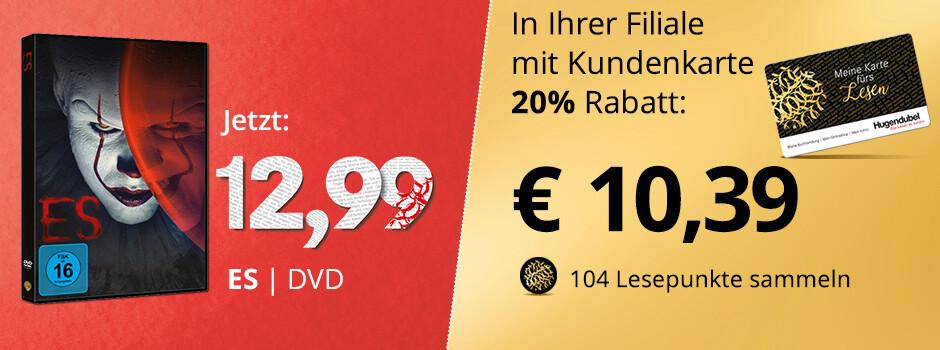 ES - Jetzt in Ihrer Filiale mit Kundenkarte 20% auf die DVD sparen!