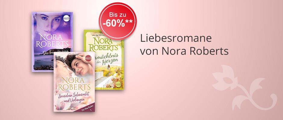 Liebesromane von Nora Roberts zum Aktionspreis bei Hugendubel
