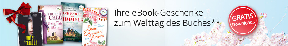 Jetzt Ihre eBook-Geschenke zum Welttag des Buches bei Hugendubel herunterladen