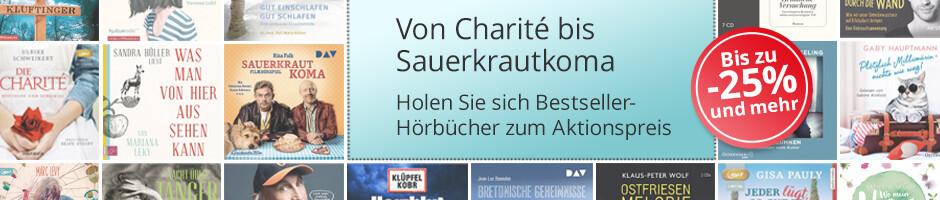 Von Charité bis Sauerkrautkoma: Bestseller-Hörbücher zum Aktionspreis bei Hugendubel