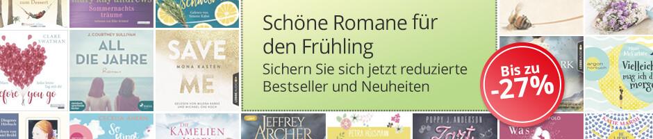 Jetzt bei Hugendubel: Schöne Roman-Hörbücher für den Frühling bis zu -27%