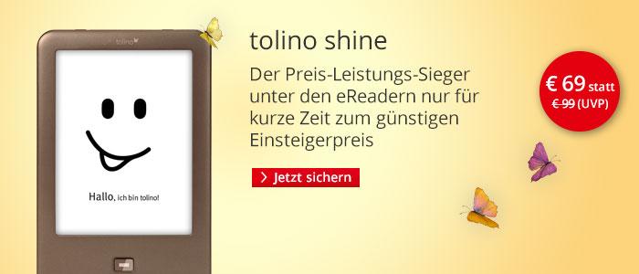 tolino shine nur 69 EUR bei Hugendubel.de.