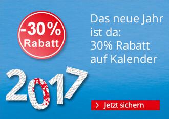 30% Rabatt auf Kalender