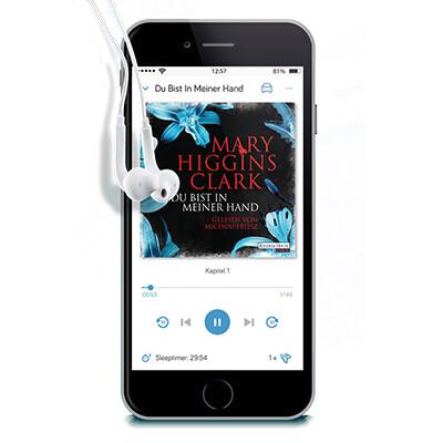 Mit der tolino app all Ihre Hörbücher immer dabei