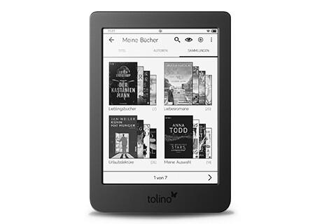 tolino 2: 6.000 Lieblingsbücher immer auf dem page 2 dabei