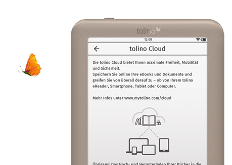 tolino page mit Cloud.