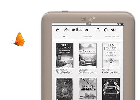Wählen Sie mit dem tolino page aus über 1,8 Mio eBooks.