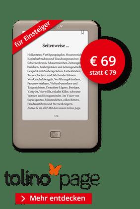 eBook Reader tolino page für 69 Euro